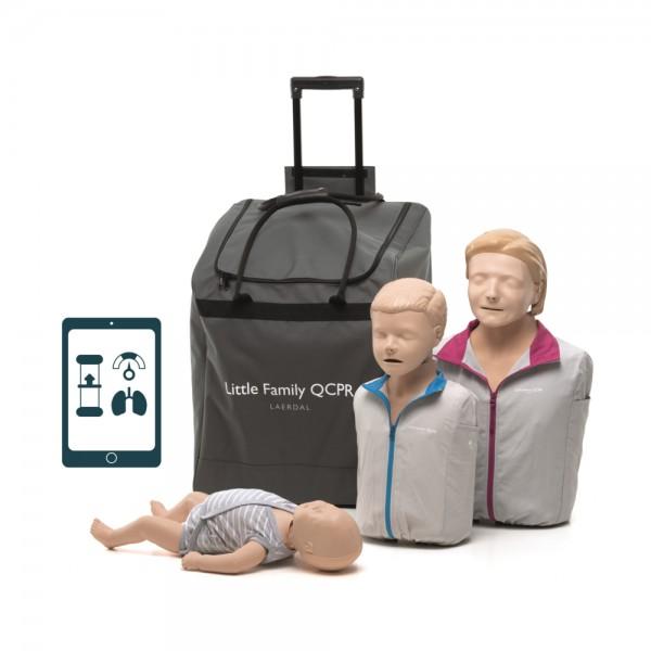 Laerdal Little Familie QCPR - 3 Puppen in einer Tasche mit Zubehör Version 2019