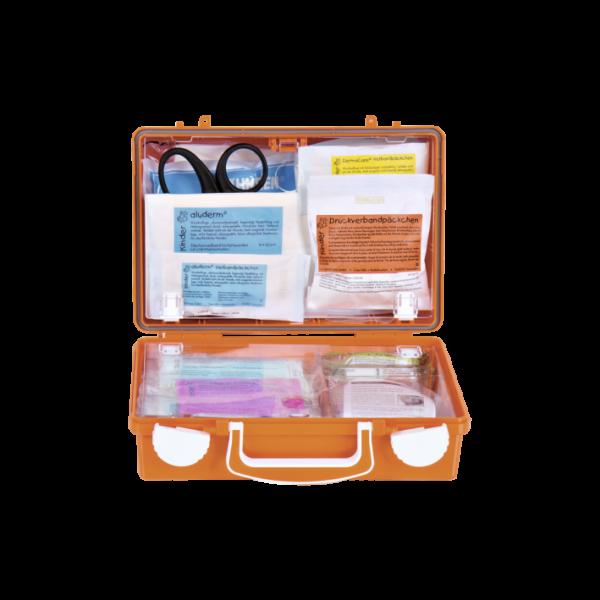 Erste Hilfe Koffer Kinder Söhngen mit Spezialverbänden in kindgerechten Abmessungen